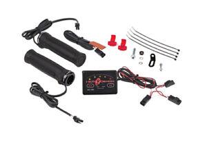 New Symtec Heat Demon Electric Heated Dual Zone ATV Grips & Thumb Warmer 215047