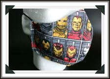 Handmade Adult Men's XL Face Mask IRON MAN Full Coverage Face Covering Big Boy