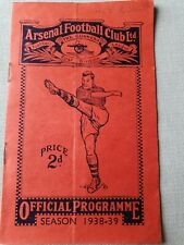 1938/9 - Arsenal v Wolverhampton Wanderers