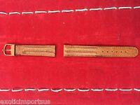 18mm Brown Genuine Leather Watch Band Brand New Original
