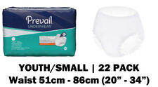 Prevail Youth/Small Disposable Incontinence Pull Up Pants, 22 incontinence pants