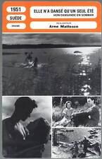 ELLE N'A DANSE QU'UN SEUL ETE  Mattson(Fiche Cinéma)1951 One Summer of Happiness