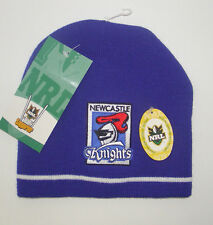 NRL NEWCASTLE KNIGHTS LICENSED RUGBY LEAGUE SUPPORTER BEANIE BRAND NEW FREE POST