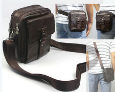 4USE Men Real Leather Fanny Waist Pack Small Shoulder Bag Messenger Bag Leisure