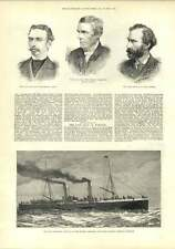 1882 Steamboat Invicta London Chatham Dover Railway Mr W Fyfe Artist