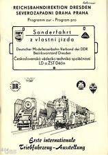 Reichsbahn der DDR Programm zur Sonderfahrt Dresden Prag 1981 und Fahrschein