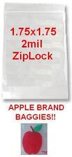 1000 Apple Brand Baggies 175x175 2mil Clear Ziplock Bag 1000 175 175175
