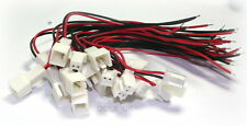 10x Power Jack Plug 2 Pin Wire & Socket Connector Lead UK seller  #0487