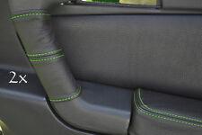 Se adapta a Alfa Romeo Gtv Cuero 2x Manija De Puerta cubre Verde