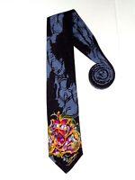 Ed Hardy by Christian Audigier Silk Tie Love Kills Graphic Necktie