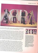 ABBA 'its a sign' magazine PHOTO/Poster/clipping 11x8 inches