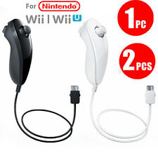 2PCS Nunchuk Nunchuck Controller Remote for Wii Wii U Console Video Games New