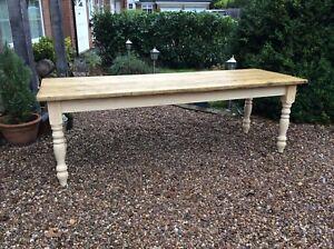 Solid Pine Dining Table Farmhouse CUSTOM MADE 5ft 6ft 7ft 8ft 9ft Bespoke