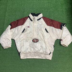 San Francisco 49ers Starter Pro Line NFL Pullover Vintage Jacket Men's Sz Large