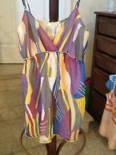 Matty M size Medium Multi-Colored Silk Striped Camosole Top GUC