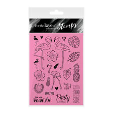 FLAMINGO PARTY - For The Love of Stamps Clear Stamp Set - Hunkydory