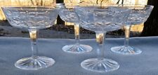 Set of FOUR Waterford Crystal Lismore Champagne Sherbet Goblets