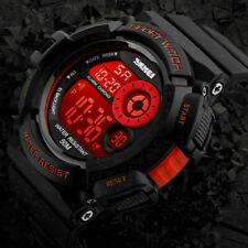 Men's Military Army Digital Quartz Wrist Watch LED Date Alarm Waterproof Sports