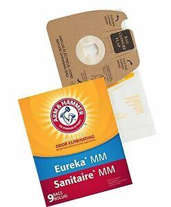 Arm & Hammer Eureka MM Sanitaire Odor eliminating 9 Pk Paper Vacuum Bag 63034A
