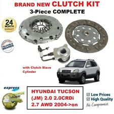 FOR HYUNDAI TUCSON (JM) 2.0 2.0CRDi 2.7 AWD 2004->on NEW 3PC CLUTCH KIT with CSC