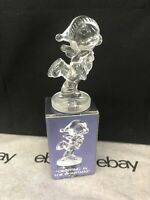 Enesco Precious Moments Dropping In For Christmas Lead Crystal Figurine