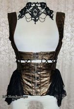 RQ-BL Gothic Lolita Steampunk Victorian Transformer Corset Harness Top Brown