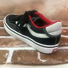 Vans off the wall youth boys girls skateboard shoes sneakers size 5 black white