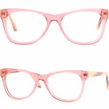 Damenbrille Gestell Kunststoff Quadrat Acetat Federbügel Groß Fassung Rosa Pink