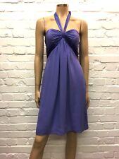 Coast Stunning Silk Lavender Halter Dress Uk 10 RRP £125 NWT