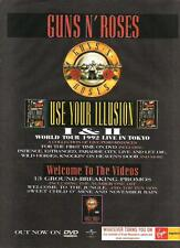 GUNS N' ROSES Welcome To The Videos  UK magazine ADVERT / mini Poster 11x8""