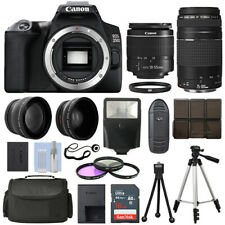 Canon EOS 250D DSLR Camera + 4 Lens Kit 18-55mm + 75-300mm + 16GB Top Value Kit