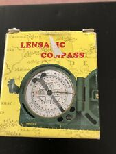 Vintage Boxed Lensatic Compass Your Direction Protector And Papers