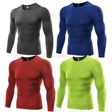 Men's Long Sleeve Tights Sports T-shirts Hot Compression Thermal Base Layer Top