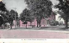Greensburg Pennsylvania Public School Street View Antique Postcard K44459