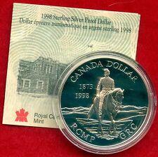 1998 Canada Proof Silver Collector Dollar With COA ( 25.175 Grams .925 Silver )