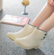 2020 Short Waterproof Shoes Women Girls Rubber Sole Fashion Boots Rain Boots