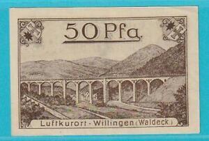Notgeld 34508 Willingen 50 Pfennig aus 1921