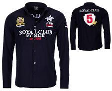 GEOGRAPHICAL NORWAY Camisa de manga larga para hombre Real Club Casual bestrickt