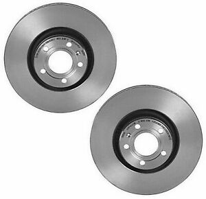 Brembo Pair Set of 2 Front UV Coated Disc Brake Rotors 321mm For Audi A6 Quattro