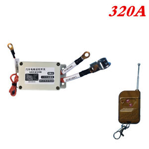 320A Car Battery Isolator Disconnect Power Master Switch w/Single Remote Control