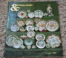 CATALOGUE VENTE 1996 FAIENCES PORCELAINES tasses poupées documentation