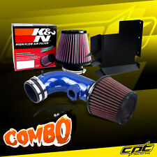 07-12 BMW 328i E90/E92/E93 3.0L 6cyl Blue Cold Air Intake + K&N Air Filter