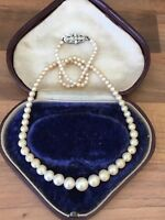"Beautiful Vintage 16.5""  Faux PEARL Single Strand Necklace"