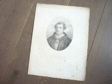 GRAVURE 1820 GEORGES D'AMBOISE