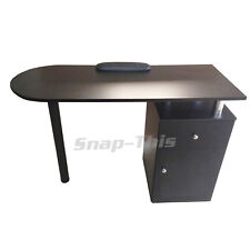 Nail Technician Desk Manicure Art Table Salon Workstation Pedicure Black Storage