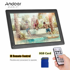 NEWEST Andoer 10.1'' IPS LCD Digital Photo Frame Electric Album+8GB Memory Card