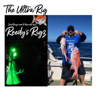 4x Fishing Rig Ultra Rigs Paternoster Snapper Rig Bottom Reedys Lumo Hooks 5/0