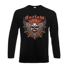 Longsleeve Outlaw From Hell Wing Skull langarm Funshirt USA S-6XL (ADS00924)