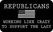 TRUMP 2020 STICKER REPUBLICANS WORK LIKE CRAZY MAGA DEPLORABLE FLAG DECAL BUMPER