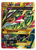 Rayquaza 98/98 Gold Mega EX Card Pokemon Collection Plastic Card Free 2 EX